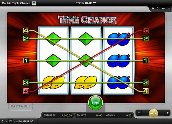 Double Triple Chance Mobile Slot - Paylines