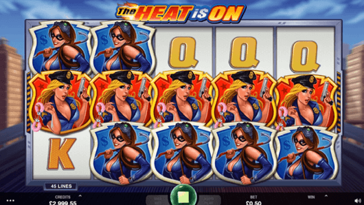 50 Free Spins for The Heat is on