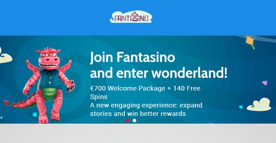 200 Free Spins + 100% Bonus at Fantasino