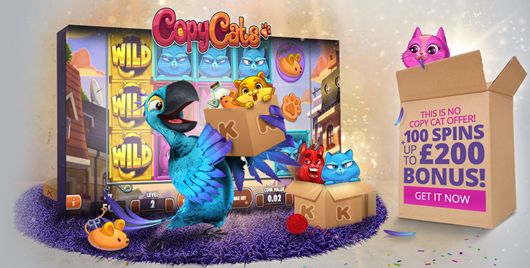100 Free Spins for Copy Cats