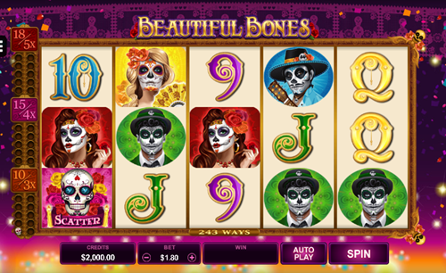 Microgaming Beautiful Bones