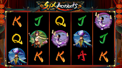 Microgaming Six Acrobats July 2017