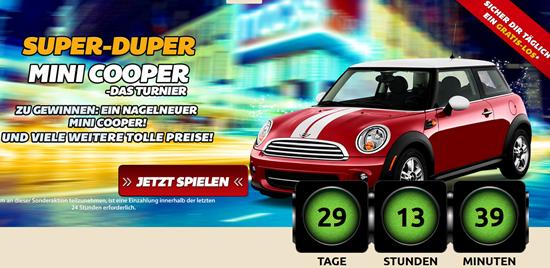 Win a Mini Cooper at DrückGlück