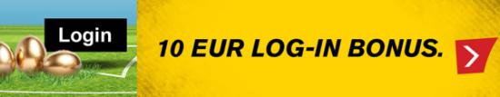10€ Login Bonus Interwetten